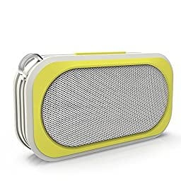 Bluetooth Speakers - Wireless, Waterproof and Portable for Outdoor, Indoor and Use in shower - Weatherproof, built Tough, Rugged and Shockproof - Crystal clear audio with High Bass Sound (Yellow)