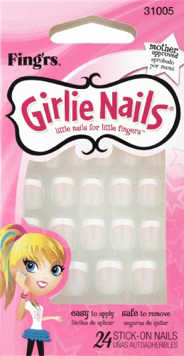 Poco Fing'rs Auto Stick Girlie Nails Glitter francese