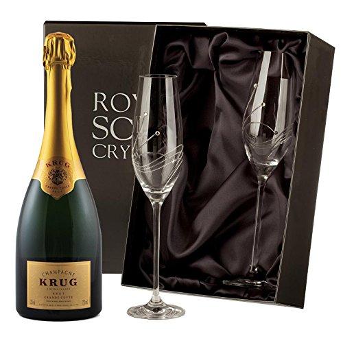 krug-brut-champagne-with-swarovski-crystal-flutes-nv