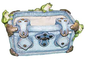 Tierra Garden 5505 Jeans Collection Polyresin 6-Inch Square Pot, Blue