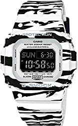 CASIO Men's Watch G-SHOCK White and Black Series DW-D5600BW-7JF