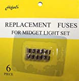 Pack of 6 Replacement Fuses For Mini Christmas Lights - 3 Amps