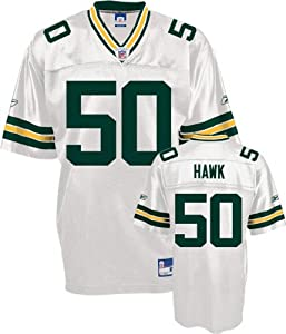 AJ Hawk Greenbay Packers WHITE Equipment - Replica NFL YOUTH Jersey