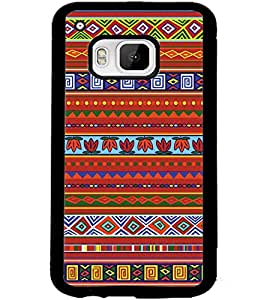 ColourCraft Tribal Pattern Design Back Case Cover for HTC ONE M9