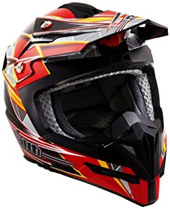 Stealth Flyte Speed Graphic Off-Road Helmet (Red, Medium)