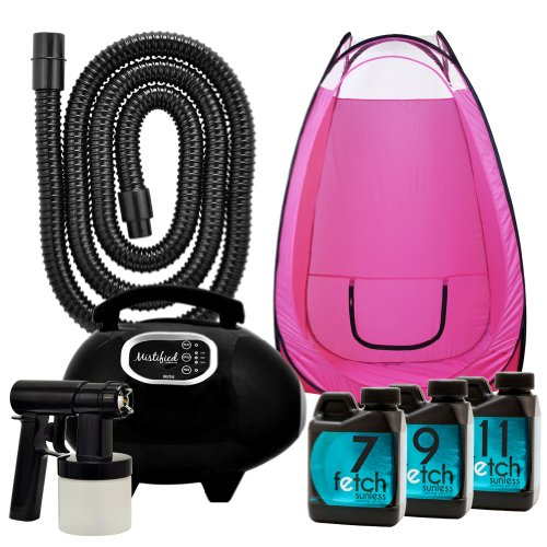 Mistified Hvlp Tanning Machine Sunless Fetch Dha Spray Tan Pink Tent Kit 2A front-797573