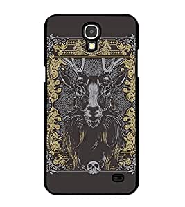 Fuson Premium 2D Back Case Cover Designed bull With red Background Degined For Samsung Galaxy Mega 2 SM-G750H