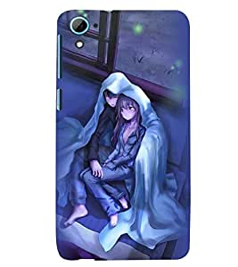 Printvisa Premium Back Cover Couple Wrapped Upon A Cold Evening Design For HTC Desire 826::HTC Desire 826 Dual