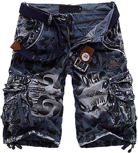Outdoor Camouflage Rungo da uomo Jeans pantaloni Cargo Shorts (senza cintura)