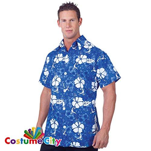 Hawaii-Hemd Blau Herren Gr.Std