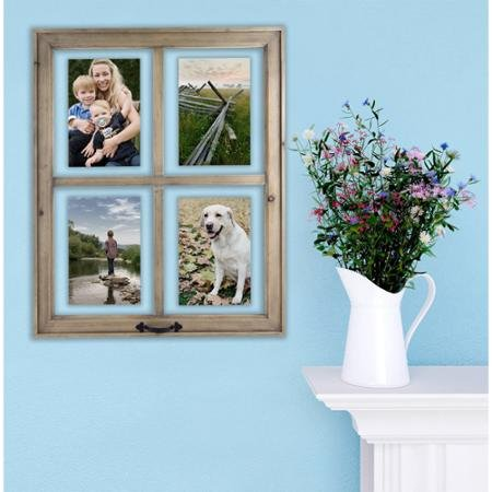 Better Homes and Gardens 4-Opening Rustic Windowpane Collage Frame 2