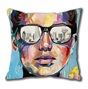 Illustration Painting Quiet Evening Standard Size Design Square Pillowcase/Cotton Pillowcase with Invisible Zipper in 40*40CM 16*16(527)-527013 by Square Pillowcase