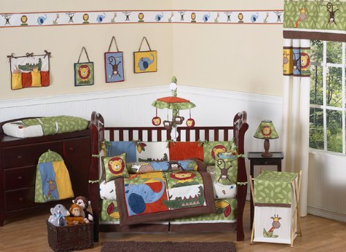 Jungle Time Baby Bedding 9pc Crib Set by JoJo Designs