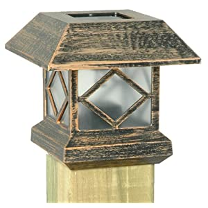 Click to buy LED Outdoor Lighting: Moonrays Solar Powered Plastic Post Cap Lamp from Amazon!