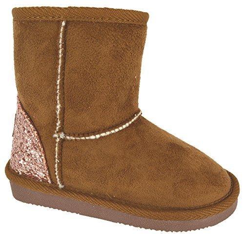 new-kids-girls-warm-faux-fur-lined-snugg-winter-glitter-infants-boots-size-6-2