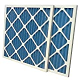 "US Home Filter SC40-16X25X1-6 MERV 8 Pleated Air Filter (Pack of 6), 16"" x 25"" x 1"""