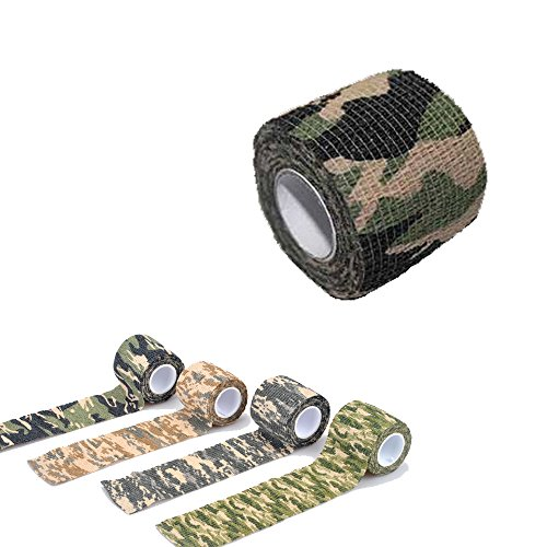 Yougle Self-adhesive Non-woven Outdoor Camouflage Wrap Rifle Hunting Cycling Tape Waterproof Camo Stealth Tape (B--Woodland Camo) (Gun Tape compare prices)