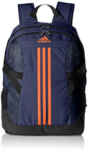 Adidas Performance 3 Stripes Power Ii Zaino 44 Cm, Colore Collegiale Navy/Bold Arancione/Black