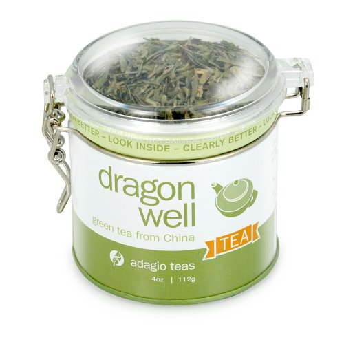 Adagio Teas Dragon Well, 4-Ounce Tins (Pack of 2)