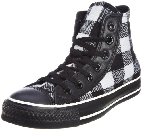 Converse Unisex Adult Chuck Taylor All Star Speciality Hi Black/White Check Trainer Canvas 517484 6 UK