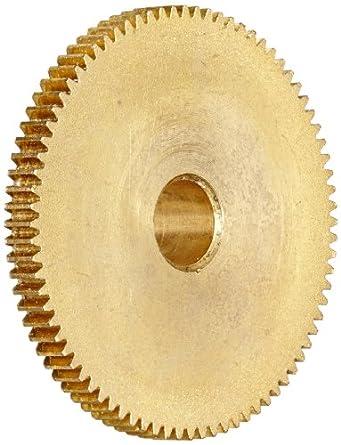 """Brass Pinion Gear 64P 20 Deg Pressure Angle 80Teeth x .250"""" Bore x 1.250"""" Pitch Dia"""