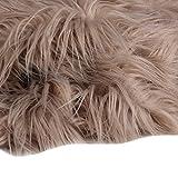 Yingrui Big Faux Fur Newborn Prop Baby Mongolian Fur Blanket Basket Stuffer Photography Background (Khaki brown)