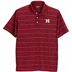 Nebraska Cornhuskers Red Textured Polo by Vantage