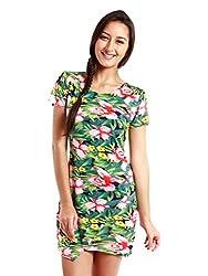 NUN Women's Wrap Dress (8903348909408_NUNDR5075_Multi_L)
