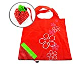 SODIAL(R) Strawberry Folding Fold up Reusable Compact Eco periodic duty Recycling use Shopping Bag
