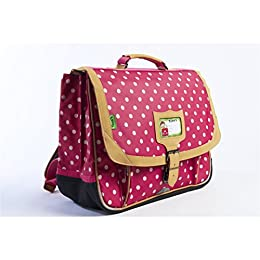 Tanns T4HEPO-CA38-CO Cartable Heritage Pois Trolley, 38 cm, Rose (Corail)