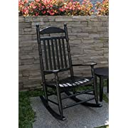 Cambridge-Casual AMZ-130635B Bentley Traditional Porch Rocker, Black