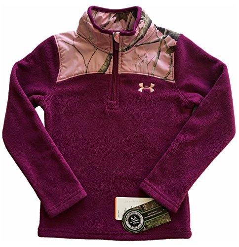 Under Armour Girls Camo Realtree Treehouse 1/4 Zip Pullover Jacket Size 6X