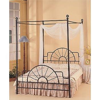 Wrought Iron Sunburst Canopy Full Bed by Coaster