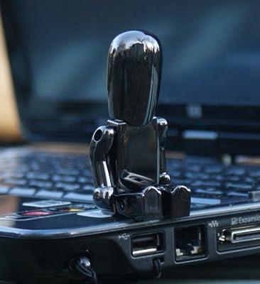 Gun Metal Robot USB Memory Stick - Flash Drive/School/Novelty/Gift by Memory Mates
