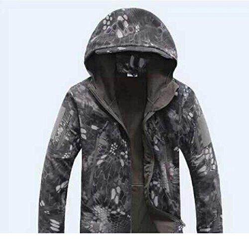 【ノーブランド品】【フード付】タクティカルジャケット | TADスタイルジャケット | あったか多機能ジャンパー | color:タイフォーンタイプ size:L