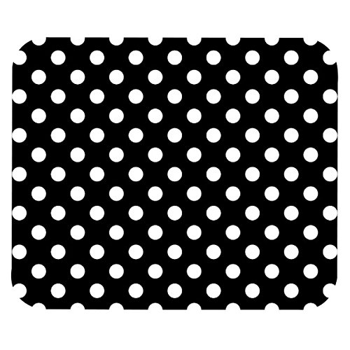Eagleyes-Black-And-White-Polka-Dots-Mouse-Pad-Standard-Size-925-x-775inch