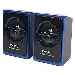 Vemax Vogue 2.0 ABS Multimedia Speaker (Blue & Black)