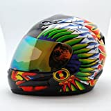 Motorcycle Street Bike Indian Full Face Adult Helmet