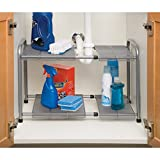 Expandable Sink Shelf with Steel Mesh and Removable Panels