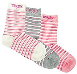 Girls Socks with Stripes (Pack of 3) - Multi Color (4-6Y)