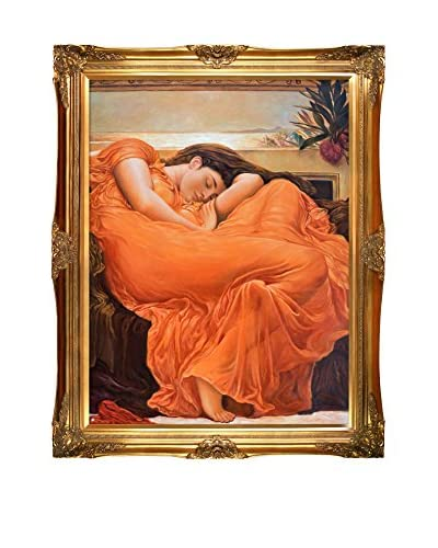 Lord Frederic Leighton's Flaming June Framed Hand Painted Oil On Canvas, Multi