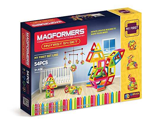 Magformers My First 54 Piece Magnetic Construction Set 63108 New Sealed JungleDealsBlog.com