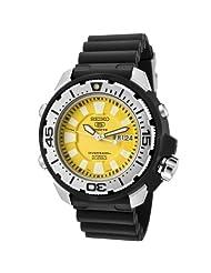Seiko Men's SKZ251K2 5 Sports Automatic Yellow Dial Black Rubber Diver Watch