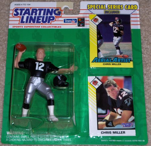 1993 Chris Miller Atlanta Falcons Kenner Starting Lineup NFL Football Figure