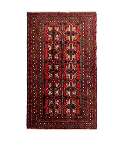 QURAMA Alfombra Persian Mached Rojo/Multicolor 189 x 105 cm