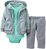 Carters Baby Boys 3 Piece Cardigan Set (Baby) - Heather/Green - Heather - 9 Months