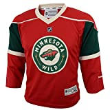 NHL Minnesota Wild Boys Team Replica Player Jersey, Large/X-Large, Crimson
