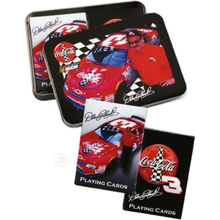 The U.S. Playing Card Co. Dale Earnhardt Senior Coca-Cola Playing Cards ina Tin with 2 Decks - 1