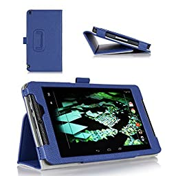 ProCase NVIDIA SHIELD Tablet K1 Case / NVIDIA SHIELD Case - Leather Stand Folio Cover Case for 2015 NVIDIA SHIELD Tablet K1 / 2014 NVIDIA Shield 2 tablet (Navy, Dark Blue)