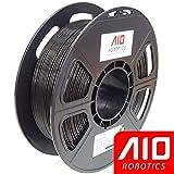 AIO Robotics AIOBLACK PLA 3D Printer Filament, 0.5 kg Spool, Dimensional Accuracy +/- 0.02 mm, 1.75 mm, Black